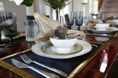 Detailed of dinning table Stock Photos