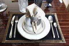 Detailed of dinning table Royalty Free Stock Images