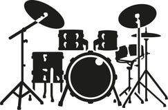 Detailed drum set. Music vector royalty free illustration