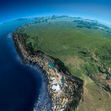 Detailed Earth. Bolivia, Peru, Brazil Stock Photography
