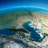 Detailed Earth. Caucasus Stock Photo