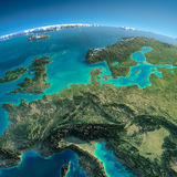 Detailed Earth. Central Europe Royalty Free Stock Photos