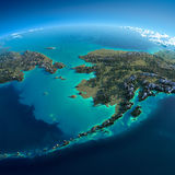 Detailed Earth. Chukotka, Alaska Stock Images