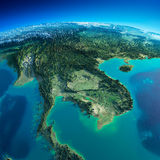 Detailed Earth. Indochina peninsula Stock Photos