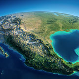 Detailed Earth. Mexico Royalty Free Stock Image
