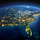 Detailed Earth. North America. USA. Gulf of Mexico and Florida o Stock Photography