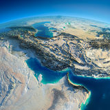 Detailed Earth. Persian Gulf Royalty Free Stock Image