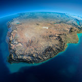 Detailed Earth. South Africa Royalty Free Stock Image