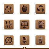 Detailed ecology icons Royalty Free Stock Photos