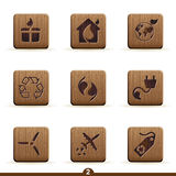 Detailed ecology icons Stock Image