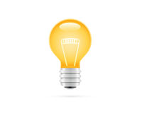 Detailed Electrical Lamp Icon Royalty Free Stock Image