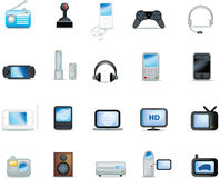 Detailed electronic icons Royalty Free Stock Photos