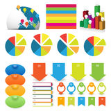 Detailed element of info-graphics Stock Images
