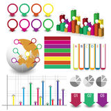 Detailed element of info-graphics Royalty Free Stock Photos