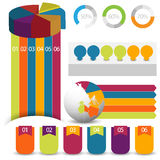 Detailed elements of info-graphics with tags Stock Photo