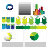 Detailed elements of info-graphics with tags Royalty Free Stock Images