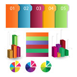 Detailed elements of info-graphics with tags Royalty Free Stock Image
