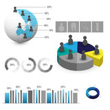 Detailed elements of info-graphics with tags Stock Image
