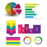 Detailed elements of info-graphics with tags Stock Photography