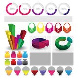 Detailed elements of info-graphics with tags and navigation pins Royalty Free Stock Photos