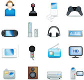 Detailed entertainment icons Royalty Free Stock Photos