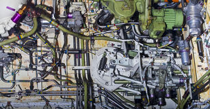 Detailed exposure of aircraft parts. Royalty Free Stock Photography
