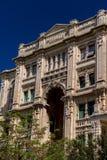 Detailed facade of Balluta building Malta Stock Photos