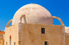Detailed facade and dome of the ancient mosque Royalty Free Stock Images