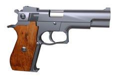 Detailed Fine Isolated Pistol Gun. In 3D Stock Photo