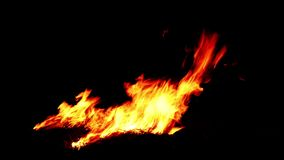 Detailed fire background stock video footage