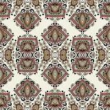 Detailed floral and paisley scarf design, fabric, bandana. Stock Photo