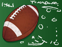Detailed football on chalkboard Stock Images