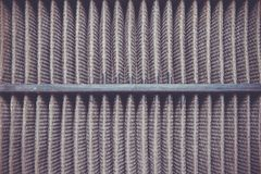 Detailed fragment of dirty air filter surface. Royalty Free Stock Photo