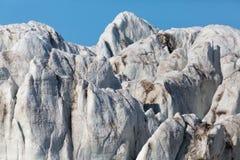 Detailed front view of Esmarkbreen glacier in Spitsbergen. Detailed front view of natural Esmarkbreen glacier in Spitsbergen stock photo