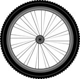Detailed Front wheel of a mountain bike Stock Images
