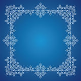 Detailed frosty Christmas frame Stock Photo