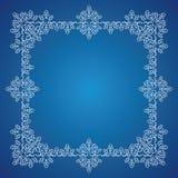 Detailed frosty Christmas frame vector illustration