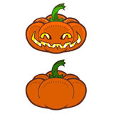 Detailed funny halloween pumpkin royalty free illustration
