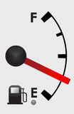 Detailed Gas tank almost Empty -  illustration des. Ign Royalty Free Stock Images