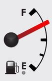 Detailed Gas tank almost full -  illustration. Detailed Gas tank almost empty -  illustration design Stock Photography