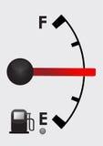 Detailed gas tank, half full or half empty. Illustration design Stock Photos