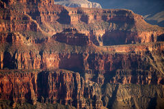 Detailed geology of the Grand Canyon Royalty Free Stock Image