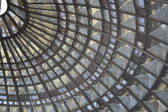 Glass and punched metal ceiling Royalty Free Stock Photography