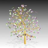 detailed gold money tree Royalty Free Stock Photos