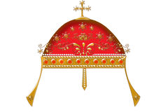 Detailed golden crown Royalty Free Stock Images