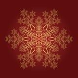 Detailed golden snowflake stock illustration