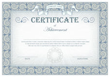 Detailed gray vintage certificate with flags and flourishes vector illustration