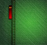 Detailed green jeans texture. Vector Royalty Free Stock Photo