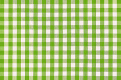 Detailed green picnic cloth. For background use Royalty Free Stock Photo