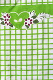 Detailed green picnic cloth. For background use Stock Photo